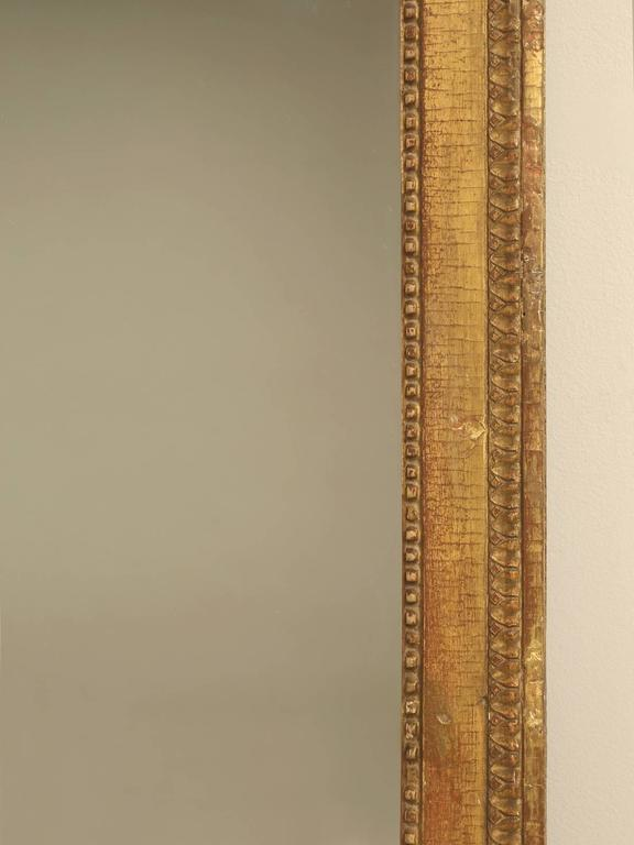 Early 19th Century French Louis XVI Gilded Mirror For Sale