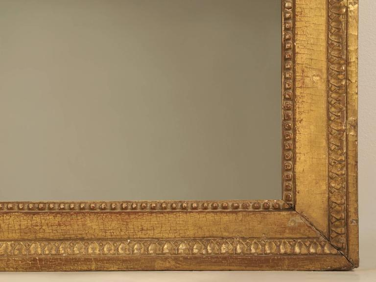 French Louis XVI Gilded Mirror For Sale 3