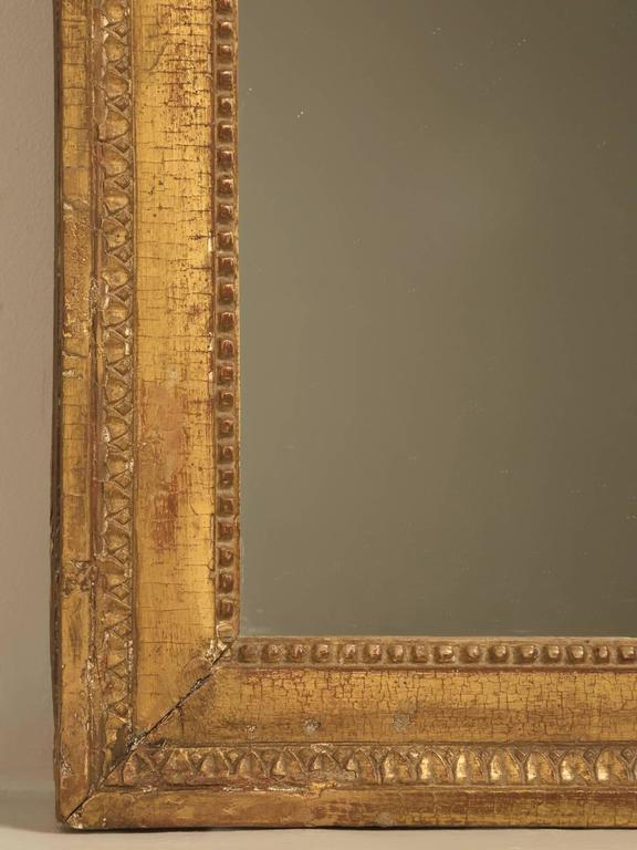 French Louis XVI Gilded Mirror For Sale 1
