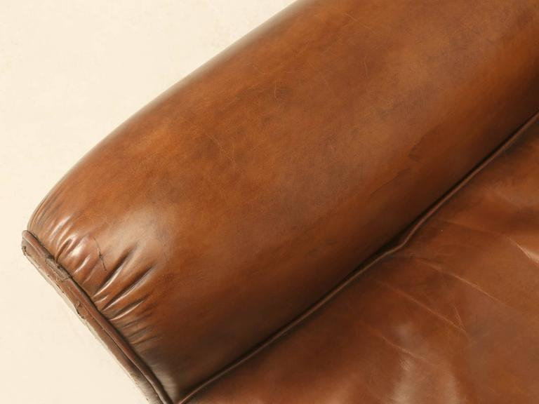French Leather Club Chairs from the 1930s For Sale 1