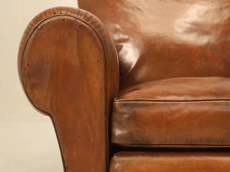French Leather Club Chairs from the 1930s For Sale 2