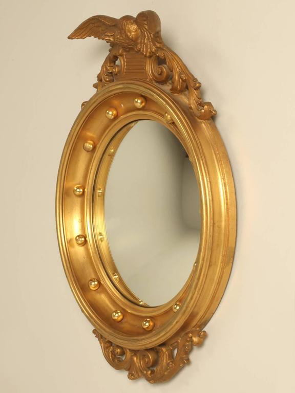 Regency Eagle Convex Mirror with a Gold Leaf Finish 2