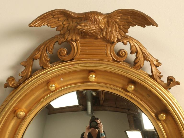 Regency Eagle Convex Mirror with a Gold Leaf Finish 3