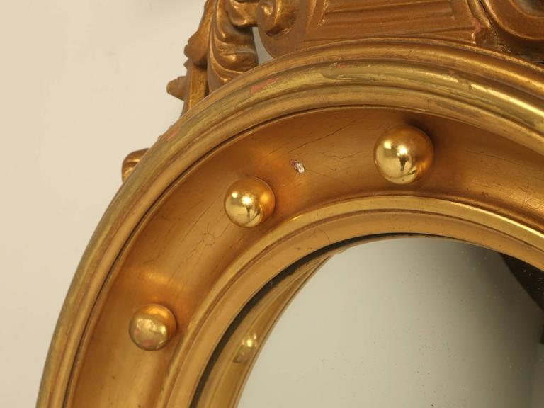 Regency Eagle Convex Mirror with a Gold Leaf Finish 5