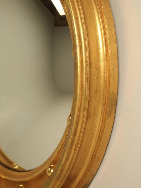 Regency Eagle Convex Mirror with a Gold Leaf Finish 6