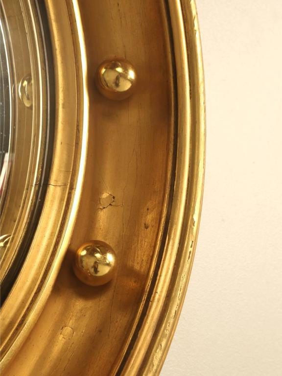 Regency Eagle Convex Mirror with a Gold Leaf Finish 7