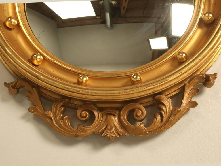 Regency Eagle Convex Mirror with a Gold Leaf Finish 8