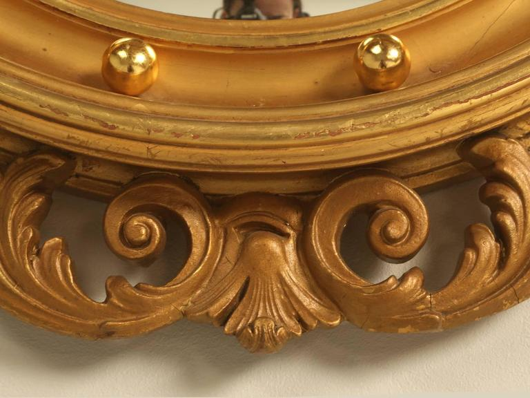 Regency Eagle Convex Mirror with a Gold Leaf Finish 9