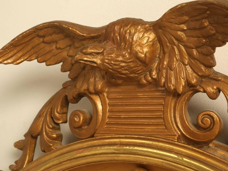 Regency Eagle Convex Mirror with a Gold Leaf Finish 4