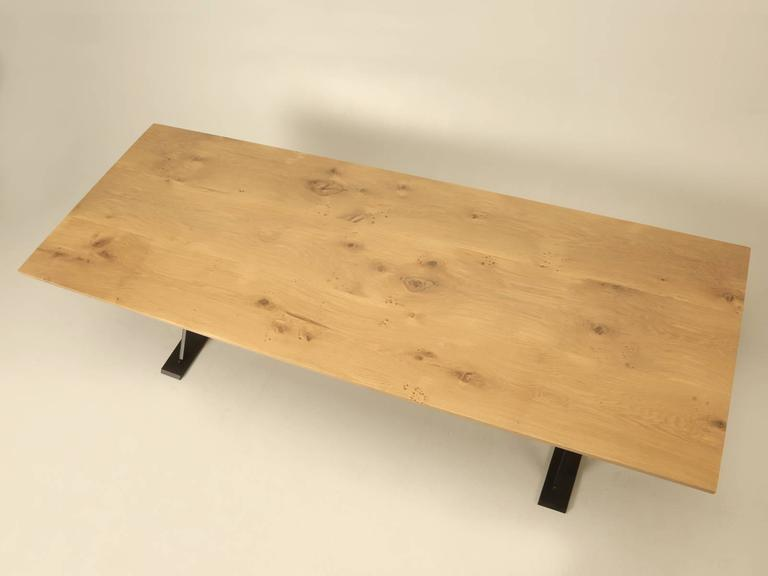 Newly constructed by our in house, Old Plank Workshop, this handmade oak and steel Industrial style dining table, can be built in any dimension or wood type.