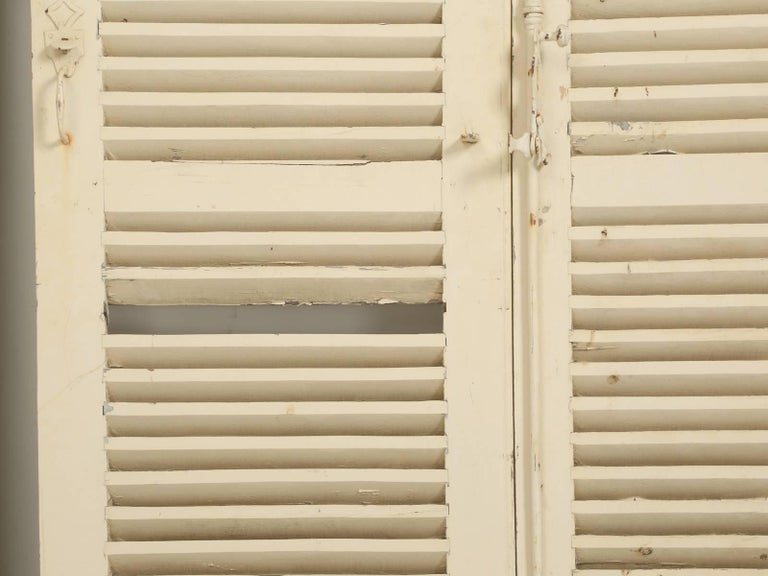 Collection of Eight Antique Painted French Shutters For Sale 2