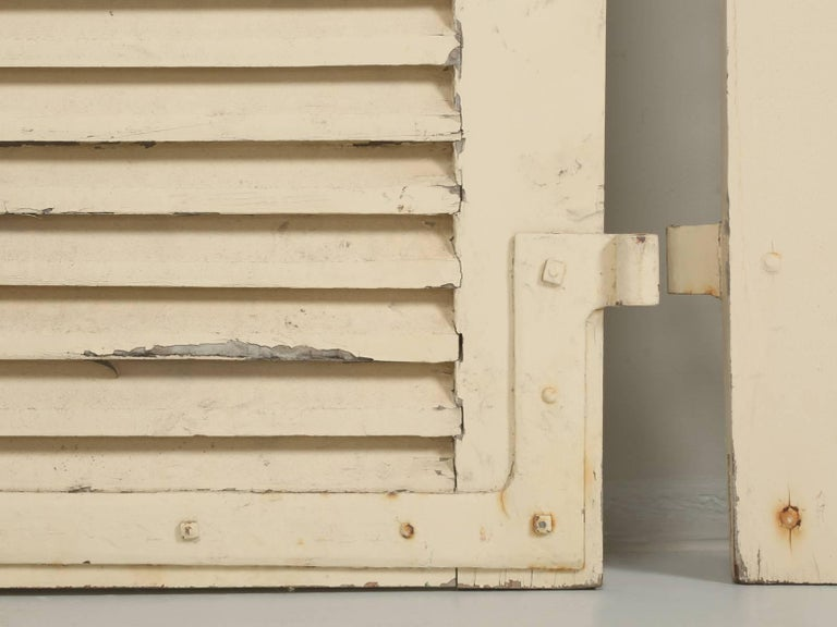 Collection of Eight Antique Painted French Shutters For Sale 5