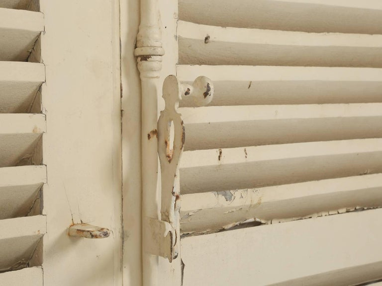 Collection of Eight Antique Painted French Shutters For Sale 1