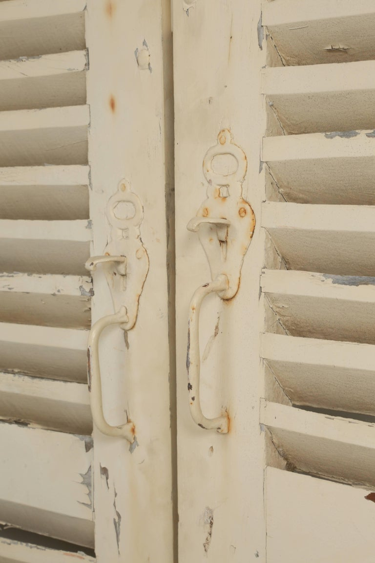 Late 19th Century Collection of Eight Antique Painted French Shutters For Sale