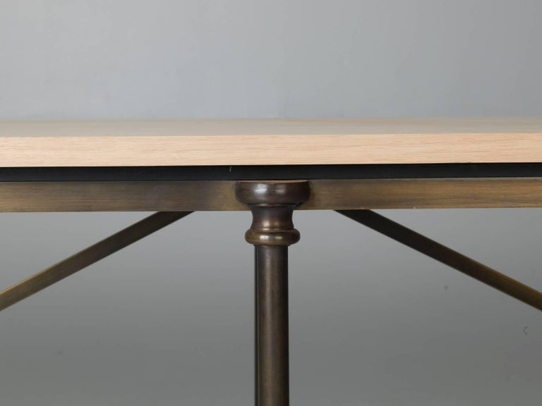 Bronze Dining Table with an Ashwood Top In Excellent Condition For Sale In Chicago, IL