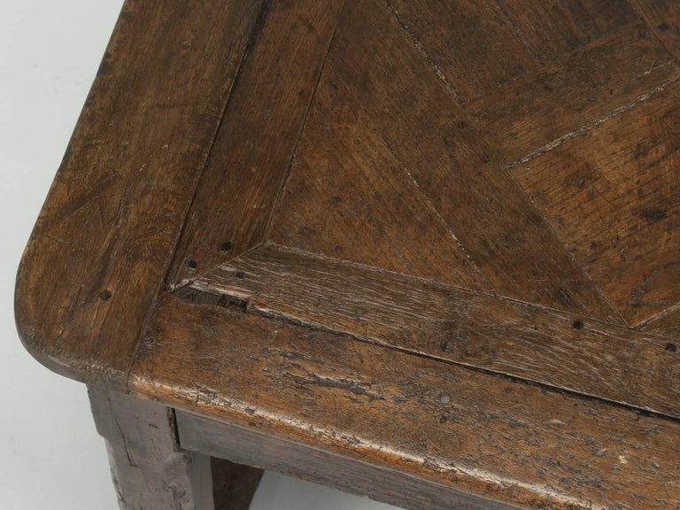 Antique French Farm Table with Drawer, circa 1700 3