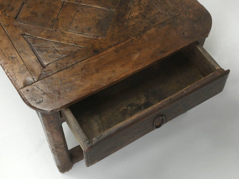 Antique French Farm Table with Drawer, circa 1700 7