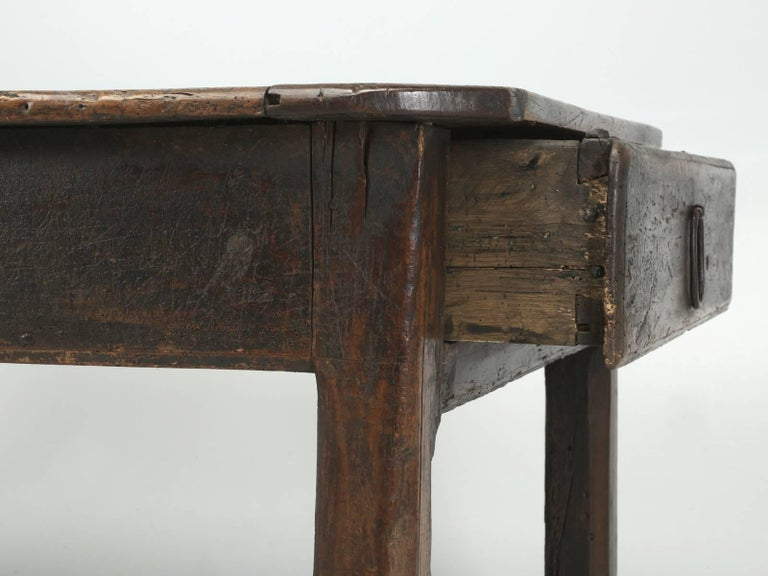 Antique French Farm Table with Drawer, circa 1700 8
