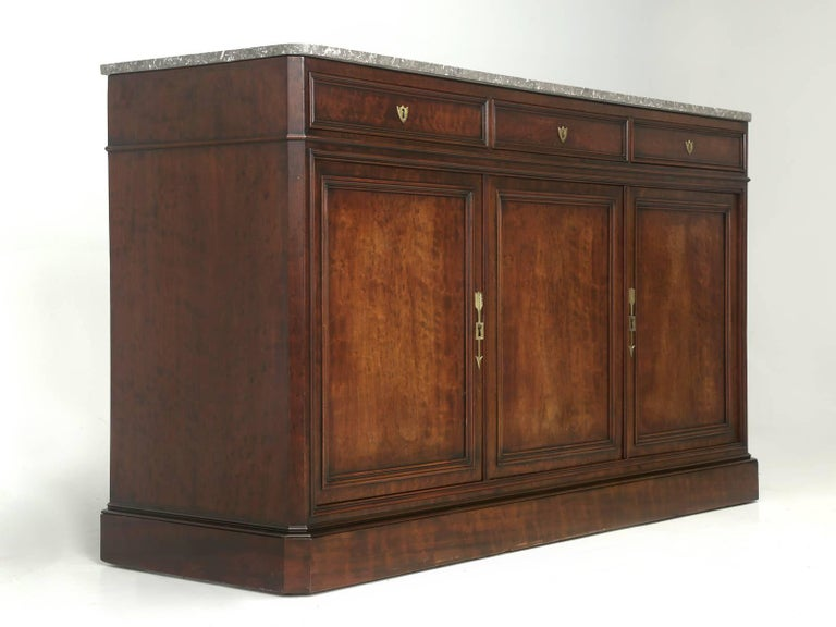 Antique French Buffet or Sideboard with Marble Top, circa 1800s 2