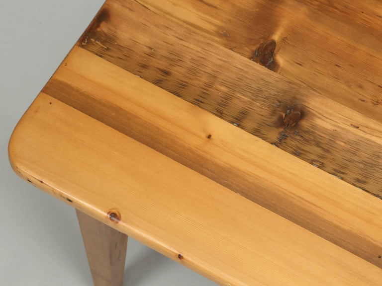 Country English Pine Farm Table from the Main Pine Company, England For Sale