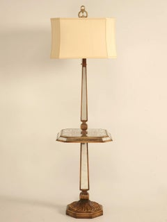French c1940's Eglomise Mirror Floor Lamp, Rewired for the USA Market
