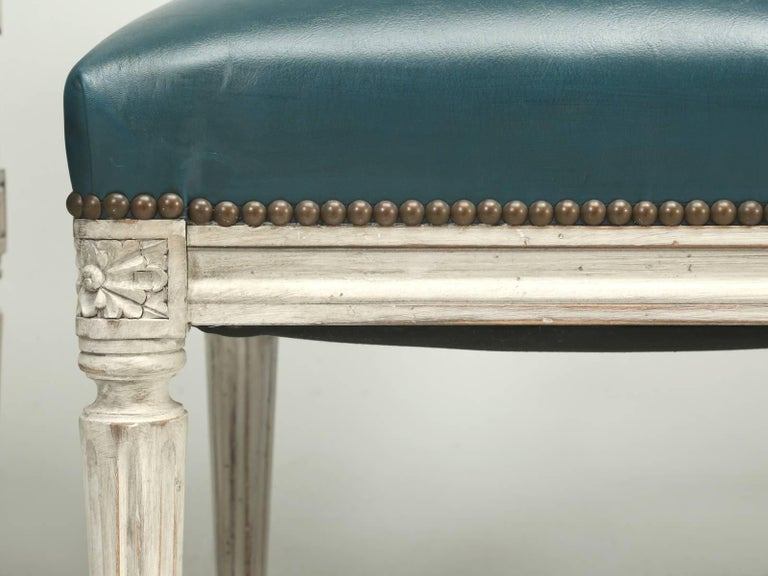 Contemporary French Louis XVI Style Dining Chairs For Sale