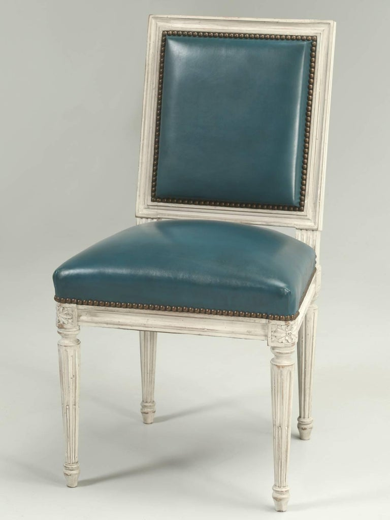 French Louis XVI Style Dining Chairs For Sale 2