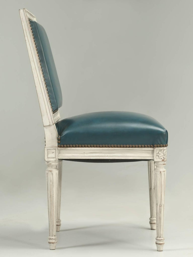 French Louis XVI Style Dining Chairs For Sale 3