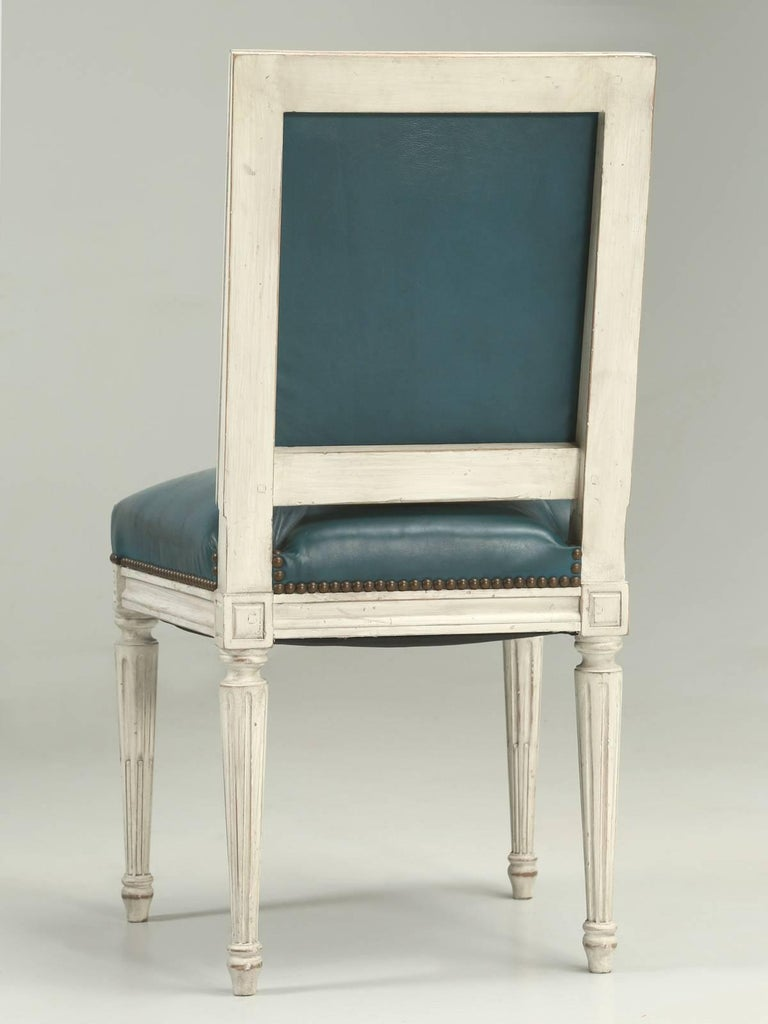 French Louis XVI Style Dining Chairs For Sale 4
