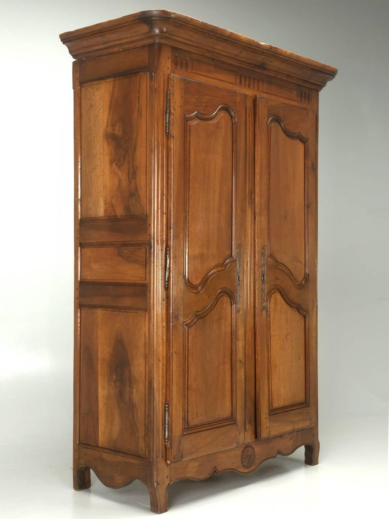 Antique French 18th century solid walnut armoire. We located this 250-year- old - Antique French Armoire In Solid Walnut From The Toulouse Area, Circa