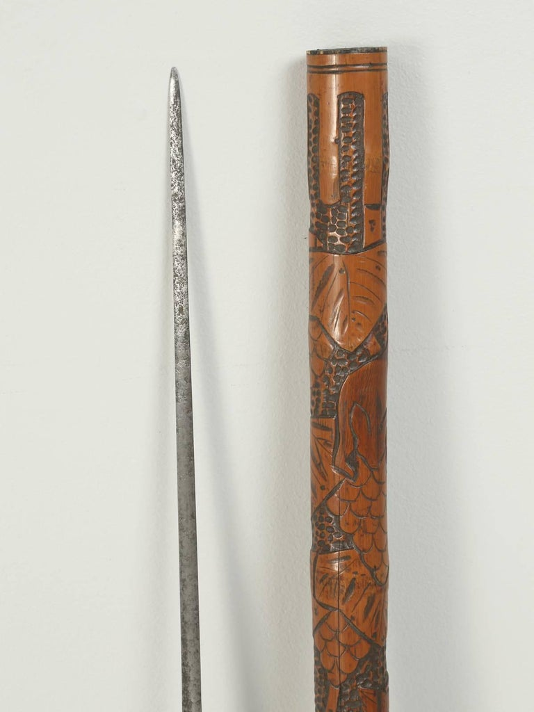 Antique Walking Stick Or Cane That Has A Hidden Large