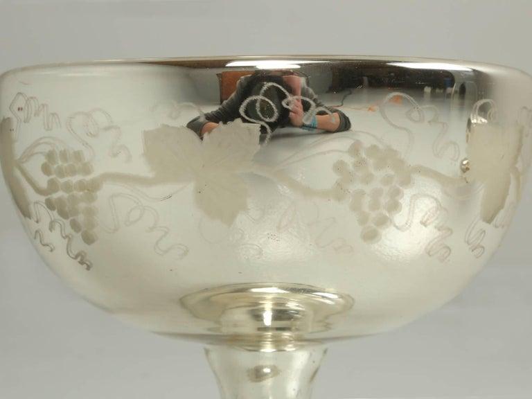 Antique Etched Glass Jug Grapes