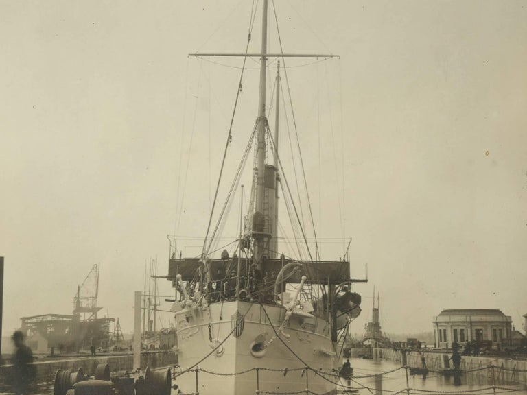 American Photograph of the U.S.S. Isla De Cuba Warship For Sale