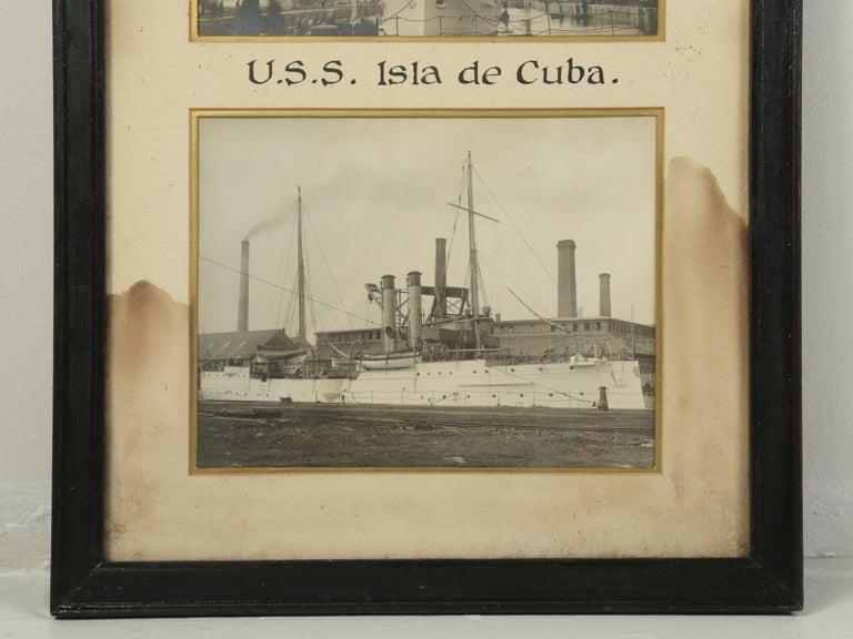 Photograph of the U.S.S. Isla De Cuba Warship In Fair Condition For Sale In Chicago, IL