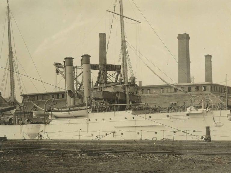 Late 19th Century Photograph of the U.S.S. Isla De Cuba Warship For Sale