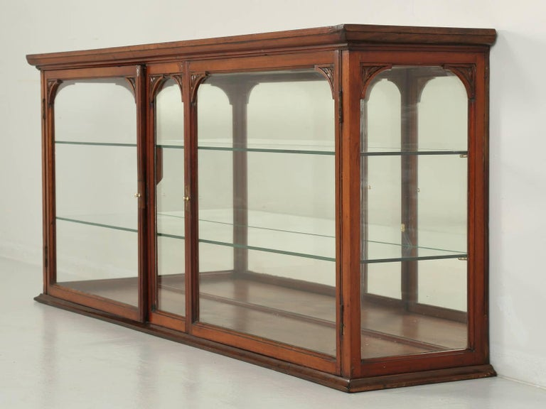 Beautiful antique English solid mahogany curio or vitrine cabinet. We found  this unusual display cabinet - Antique English Mahogany Display Cabinet, Circa 1900 For Sale At 1stdibs