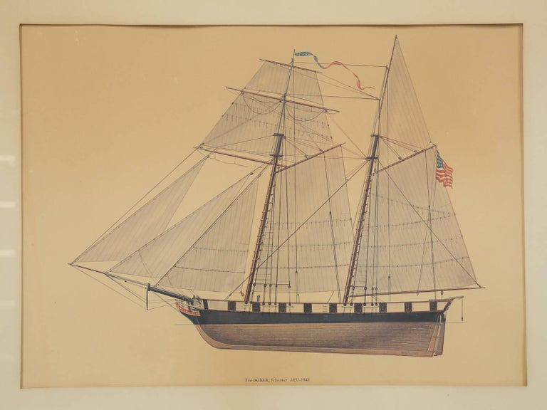 Our print of a sailing ship is so well done, that I thought it was an original watercolor for years. The print was hung at the Glenview Naval Air Station until 1995.