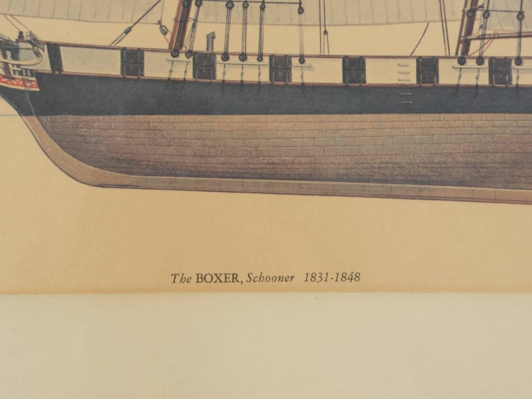 Print of a Sailing Ship from the Glenview Naval Air Station For Sale 1
