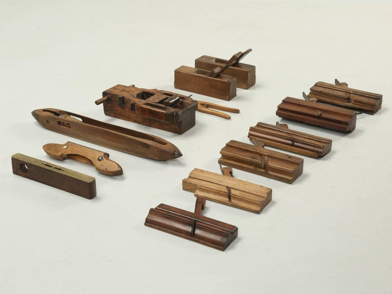 Collection of '13' Antique French Woodworking Tools For Sale at 1stdibs