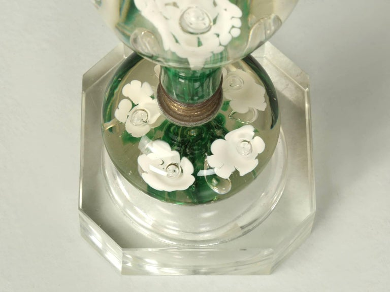 American St  Clair Paperweight Glass Lamp