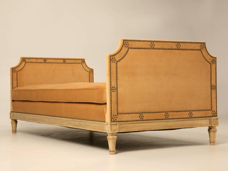 Custom Old Plank Upholstered Daybed Made to Order in our in House Workshop For Sale 1