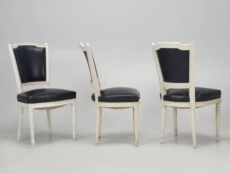 Set of Eight Louis XVI Style French Dining Chairs For Sale 6