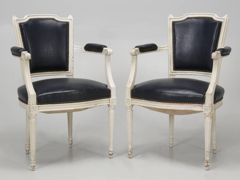 Set of Eight Louis XVI Style French Dining Chairs For Sale 7