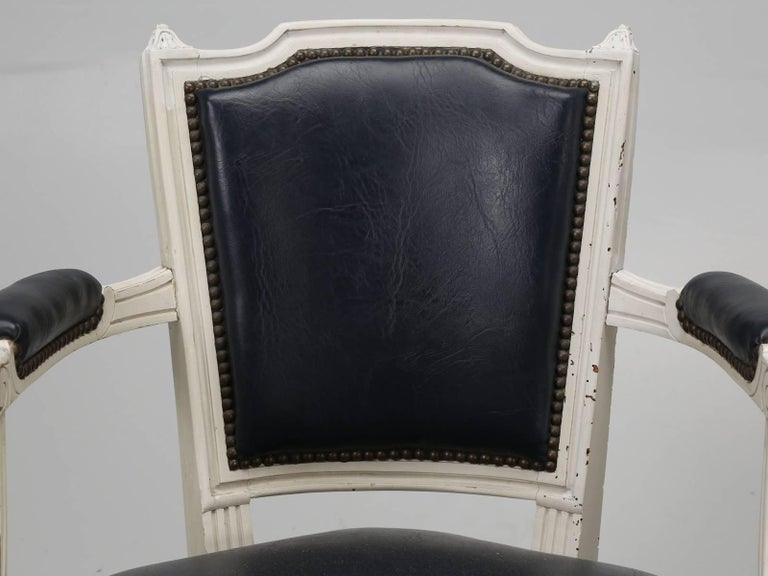 Set of Eight Louis XVI Style French Dining Chairs For Sale 8