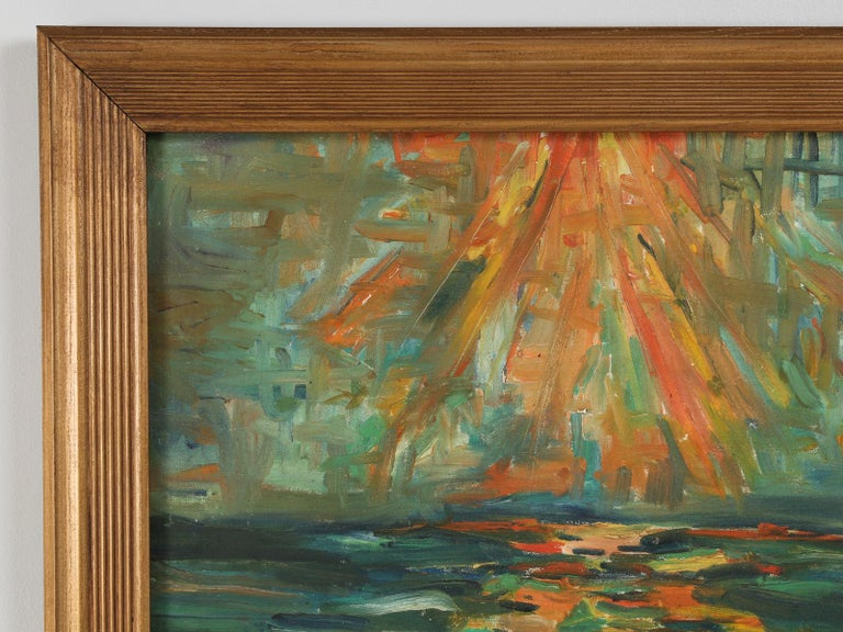 Late 20th Century Acrylic Painting Attributed to the French Artist, Roland David For Sale