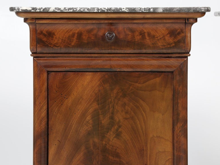 Antique French Mahogany, Louis Philippe Style Nightstands or End Tables For Sale 2
