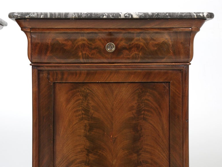 Antique French Mahogany, Louis Philippe Style Nightstands or End Tables For Sale 5
