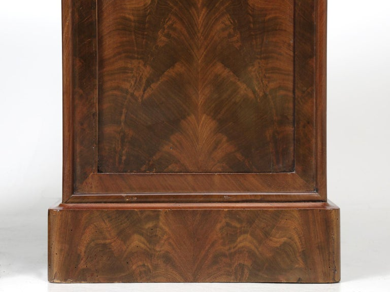 Antique French Mahogany, Louis Philippe Style Nightstands or End Tables For Sale 7