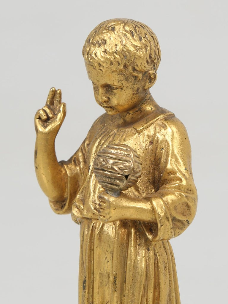 Gilt French Doré Bronze Sculpture of a Young Christ For Sale