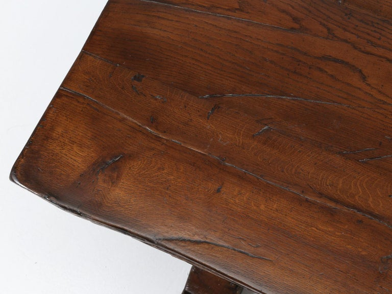 Antique French Trestle Dining Table, circa 1800 In Good Condition For Sale In Chicago, IL